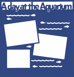 2SYT A Day At The Aquarium 12 x 12 Overlay Laser Die Cut