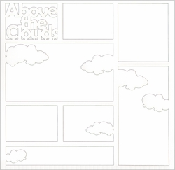Above The Clouds 12 x 12 Overlay Laser Die Cut