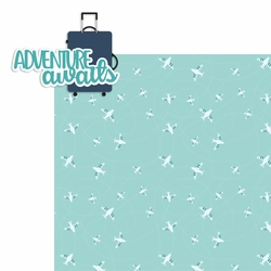 Adventure Awaits luggage 2 Piece Laser Die Cut Kit