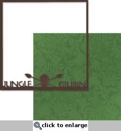 1SYT Adventure Land: Jungle Cruisin' 12 x 12 Overlay Quick Page Laser Die Cut