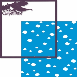 2SYT Adventure Land: Magic Carpet Ride 12 x 12 Overlay Quick Page Laser Die Cut