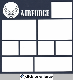 Airforce 12 x 12 Overlay Laser Die Cut
