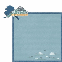 Alaska Travels: AK Breathtaking 2 Piece Laser Die Cut Kit