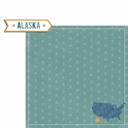 Alaska Travels: AK Label 2 Piece Laser Die Cut Kit