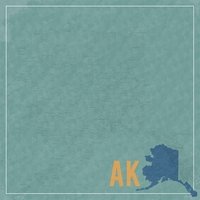 Alaska Travels: AK Map  12 x 12 Paper