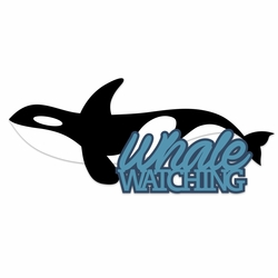 Alaska: Whale Watching Laser Die Cut