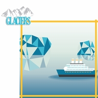 Alaskan Cruise: Glaciers 2 Piece Laser Die Cut Kit