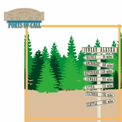 Alaskan Cruise: Port Of Call 2 Piece Laser Die Cut Kit