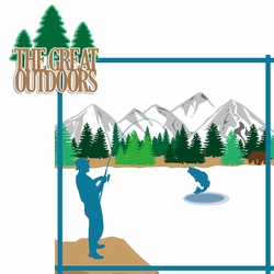 Alaskan Cruise: The Great Outdoors 2 Piece Laser Die Cut Kit