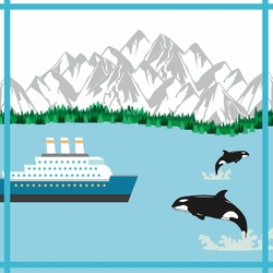 Alaskan Cruise: Whale Watching 12 x 12 Paper