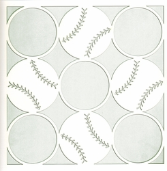 2SYT All Star: Baseball Circles 12 x 12 Overlay Laser Die Cut