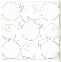 All Star: Bowling Circles 12 x 12 Overlay Laser Die Cut