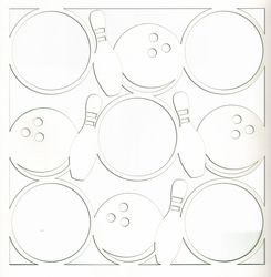2SYT All Star: Bowling Circles 12 x 12 Overlay Laser Die Cut