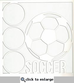 All Star: Soccer 12 x 12 Overlay Laser Die Cut