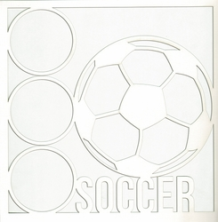 2SYT All Star: Soccer 12 x 12 Overlay Laser Die Cut