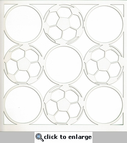 All Star: Soccer Circles 12 x 12 Overlay Laser Die Cut