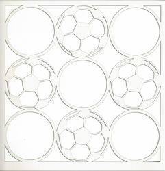 2SYT All Star: Soccer Circles 12 x 12 Overlay Laser Die Cut