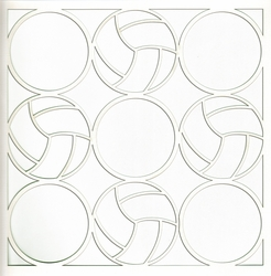 2SYT All Star: Volleyball Circles 12 x 12 Overlay Laser Die Cut