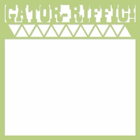 Alligator: Gator-Riffic 12 x 12 Overlay Laser Die Cut