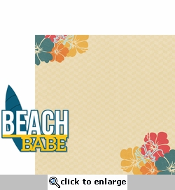 Aloha Beach: Beach Babe 2 Piece Laser Die Cut Kit