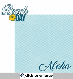 Aloha Beach: Beach Day 2 Piece Laser Die Cut Kit