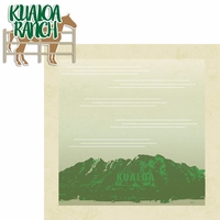 Aloha O'ahu: Kualoa Ranch 2 Piece Laser Die Cut Kit
