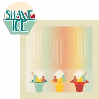 Aloha O'ahu: Shave Ice 2 Piece Laser Die Cut Kit