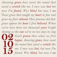 Amazing Grace Custom 12 x 12 Paper