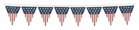 American Flags Border Laser Die Cut
