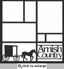 Amish Country 12 x 12 Overlay Laser Die Cut