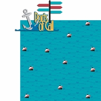 Anchors Away: Ports Of Call 2 Piece Laser Die Cut Kit