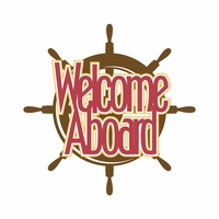 Anchors Away: Welcome Aboard Laser Die Cut