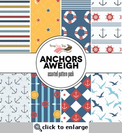 Anchors Aweigh Assorted 12 x 12 Paper Pack