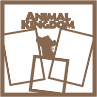 Animal Kingdom 12 x 12 Overlay Laser Die Cut