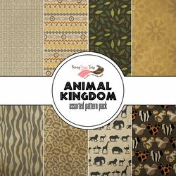 Animal Kingdom Assorted 12 x 12 Paper Pack