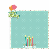 April: Birthday 2 Piece Laser Die Cut Kit