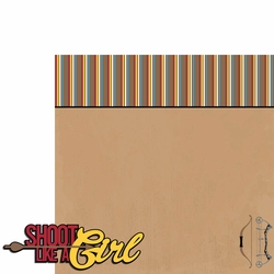 Archery: Shoot like a girl 2 Piece Laser Die Cut Kit