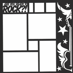 Are You Ready To Rock 12 x 12 Overlay Laser Die Cut