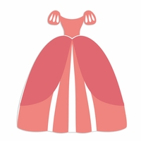 Ariel: Dress Laser Die Cut