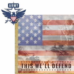 Armed Forces: Army 2 Piece Laser Die Cut Kit