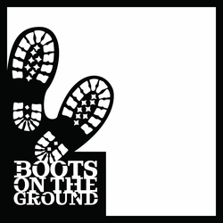Armed Forces: Boots 12 x 12 Overlay Laser Die Cut