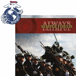 Armed Forces: Marines 2 Piece Laser Die Cut Kit