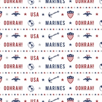 Armed Forces: Marines Pattern 12 x 12 Paper