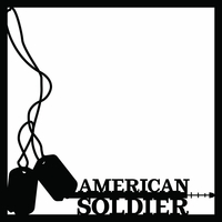 Armed Forces: Soldier 12 x 12 Overlay Laser Die Cut