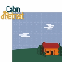 Around The Fire: Cabin Retreat 2 Piece Laser Die Cut Kit