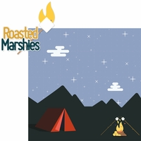 Around The Fire: Roasted Marshies 2 Piece Laser Die Cut Kit