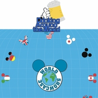 Around the World: Drinking Around The World 2 Piece Laser Die Cut Kit