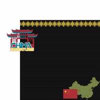 Asia Adventures: China Adventures 2 Piece Laser Die Cut Kit