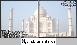 Asia: Taj Mahal Double 12 x 12 Overlay Quick Page Laser Die Cut