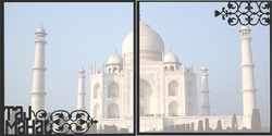 1SYT Asia: Taj Mahal Double 12 x 12 Overlay Quick Page Laser Die Cut
